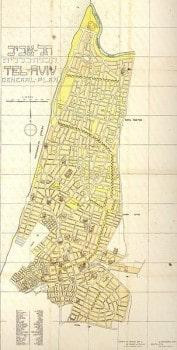 Tel-Aviv 1931-es állapotában is már majdnem kinőtte a Gaddes-tervet