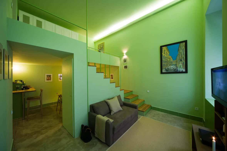 A zöld lakás lépcsője