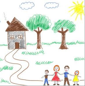 a ház fogalma egy gyerekrajzon