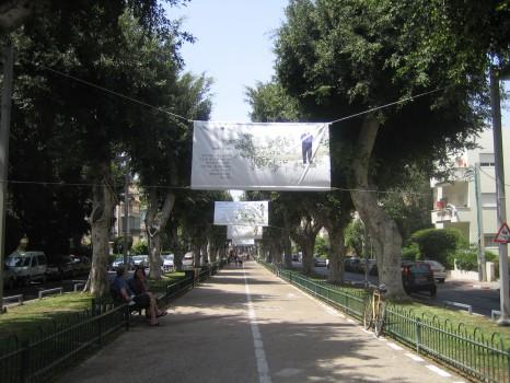 A Haim Nachman Bialikról elnevezett fasor a belvárosban
