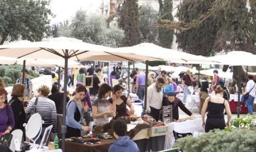 Alkalmi iparművészeti vásár a sétálóutcában... Jeruzsálem