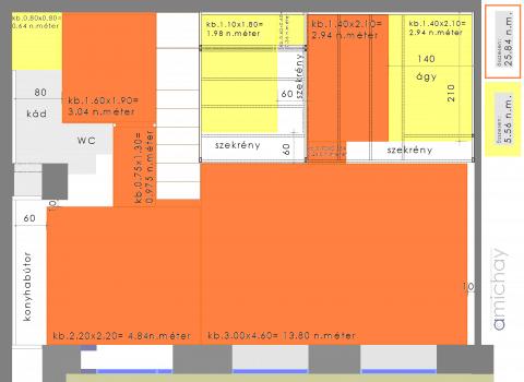 padlófűtés-terv 40 négyzetméteren