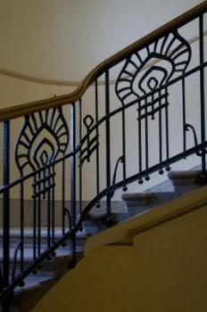 A Sonnenberg-ház lépcsőkorlátja