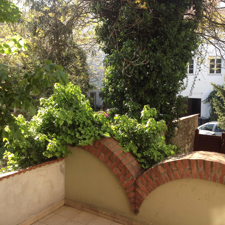 belső kert Pécs belvárosában